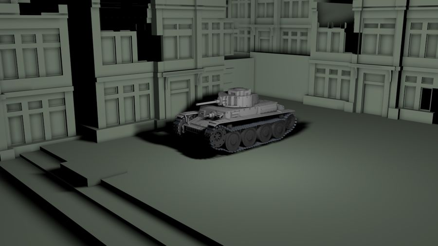 Panzer 38(t)Aus(f)动态 royalty-free 3d model - Preview no. 5