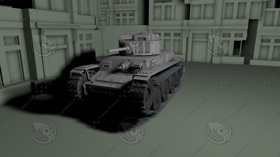 Panzer 38(t)Aus(f)动态 royalty-free 3d model - Preview no. 1