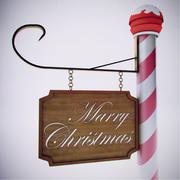 Marry Christmas Board 3d model