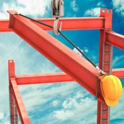 Cartoon Construction Crane 3d model