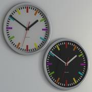 Karlsson Rainbow clock Black & White 3d model