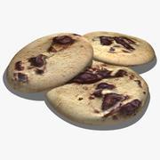 Cookie aux pépites de chocolat 3d model