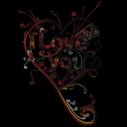Quilling I Love You 1 3d model