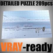 Puzzle (209 Teile) 3d model