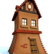 Cartoon house 3d model