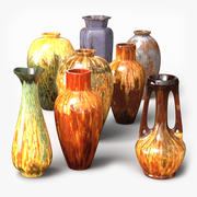 Glazed Vases 3d model