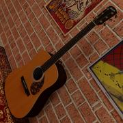 Larrivee Acoustic Guitar 3d model