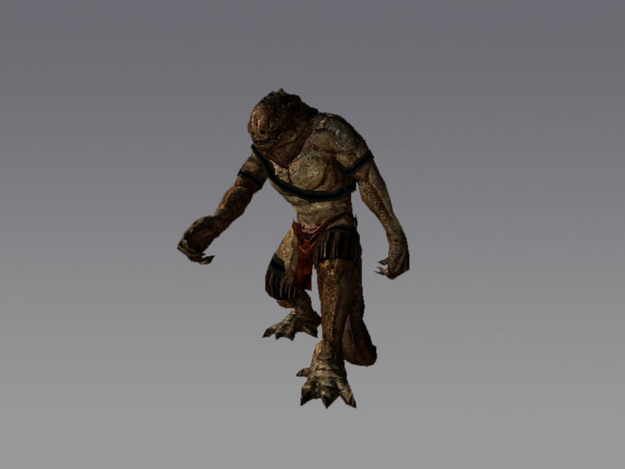 Crockman RPG Character Rigged royalty-free 3d model - Preview no. 2