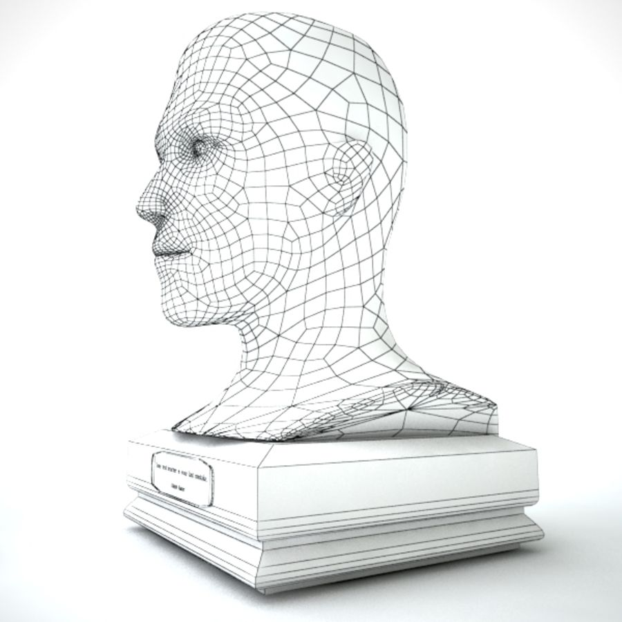 Büst royalty-free 3d model - Preview no. 6