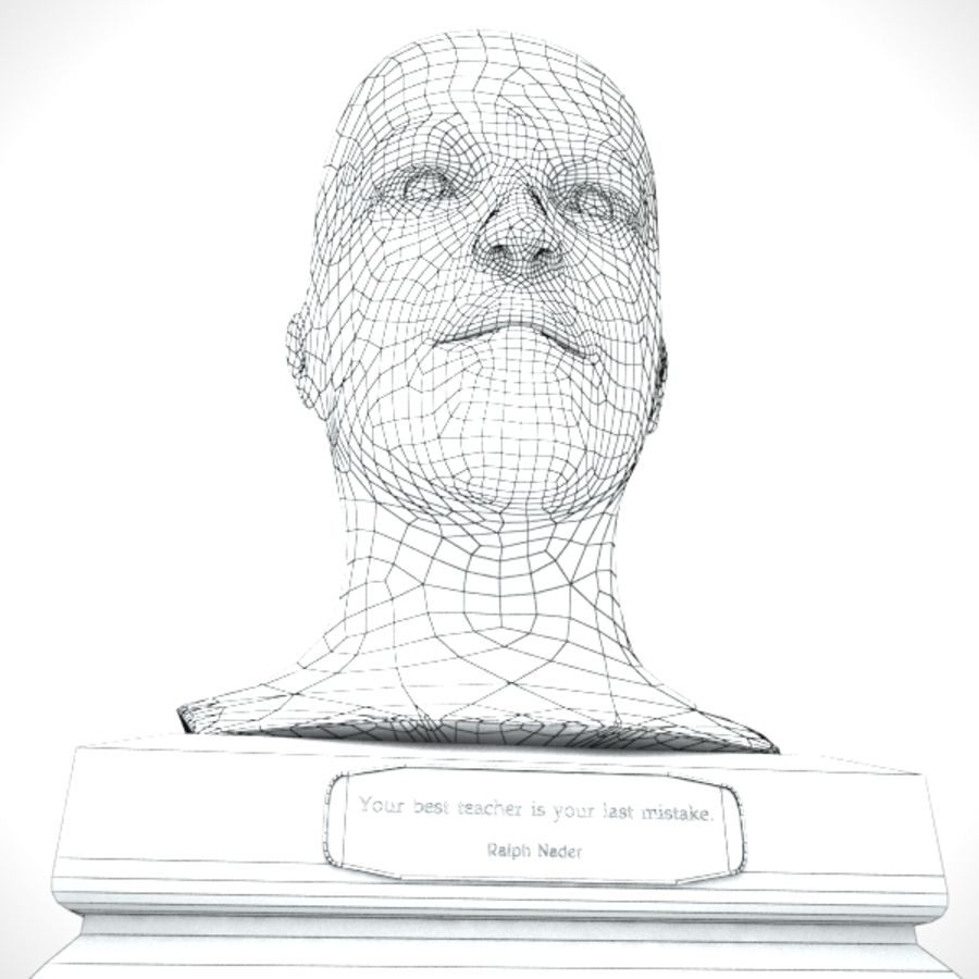 Büst royalty-free 3d model - Preview no. 5