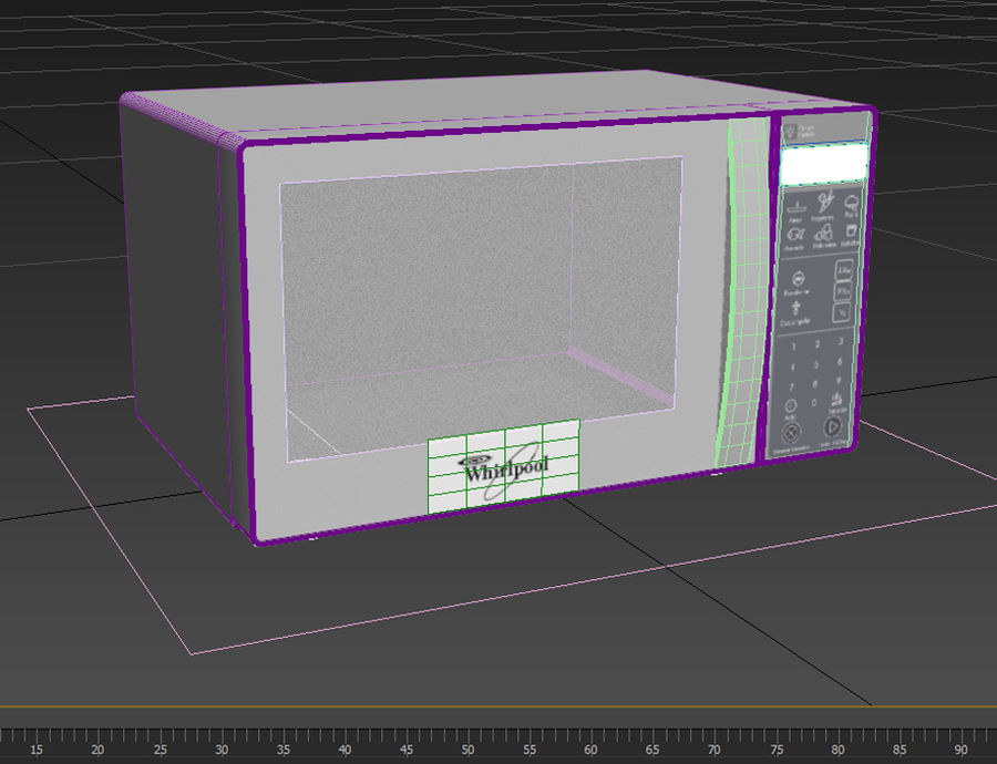 Microondas Whirlpool WM1207D royalty-free modelo 3d - Preview no. 3