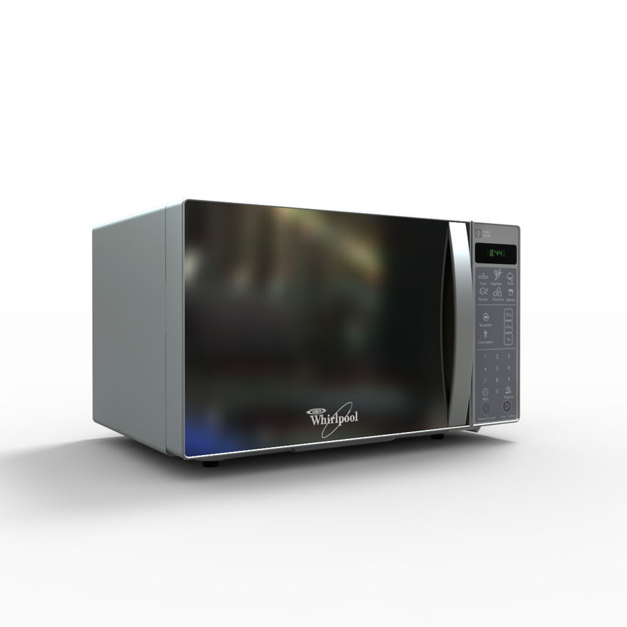 Microondas Whirlpool WM1207D royalty-free modelo 3d - Preview no. 4