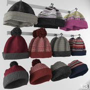 Fashion shop knitted hat 3d model