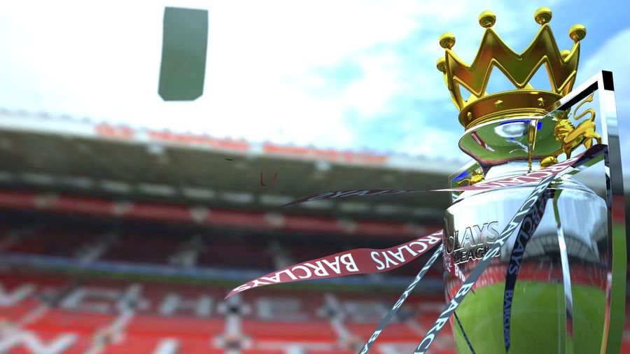 Premier League Trophy royalty-free 3d model - Preview no. 5