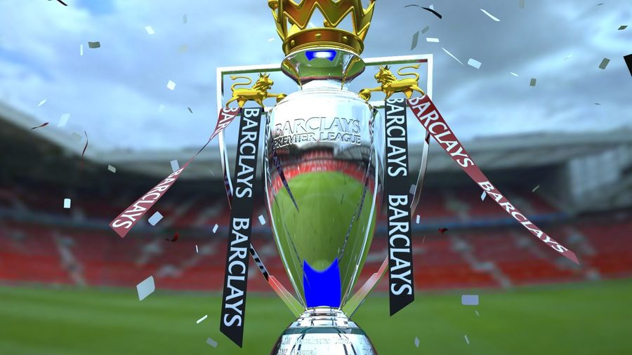 Premier League Trophy royalty-free 3d model - Preview no. 3
