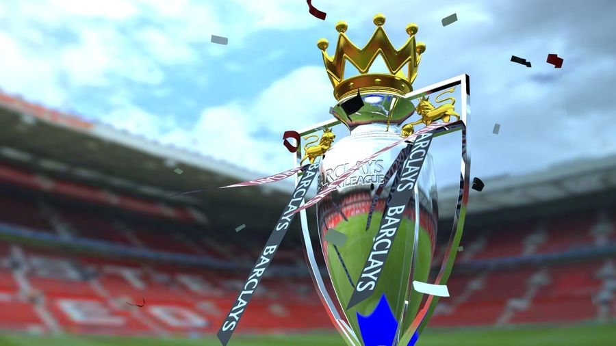 Premier League Trophy royalty-free 3d model - Preview no. 1