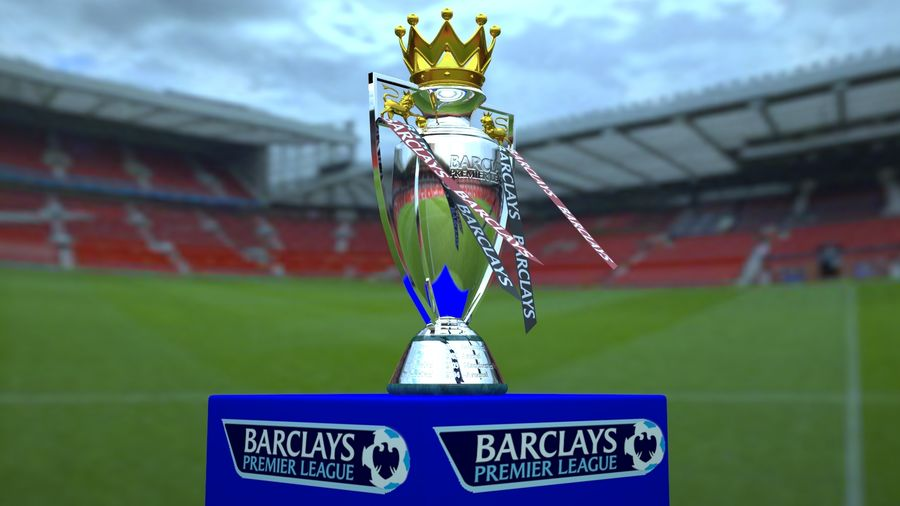 Premier League Trophy royalty-free 3d model - Preview no. 4
