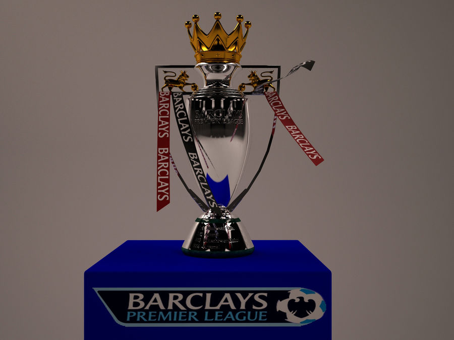 Premier League Trophy royalty-free 3d model - Preview no. 7