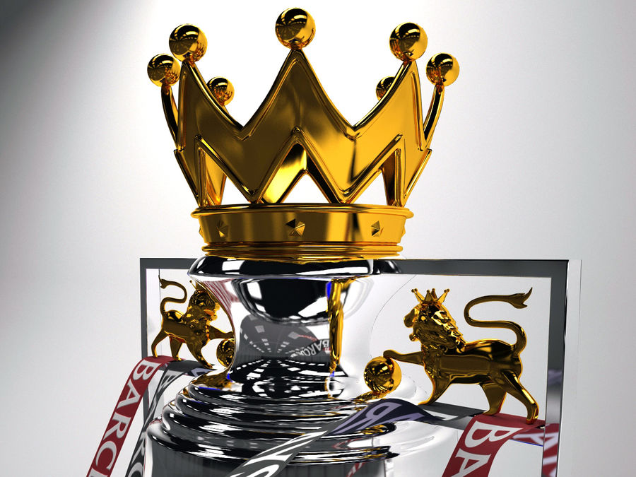 Premier League Trophy royalty-free 3d model - Preview no. 2