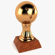 Bowling Topu Trophy 3d model