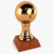 保龄球奖杯 3d model