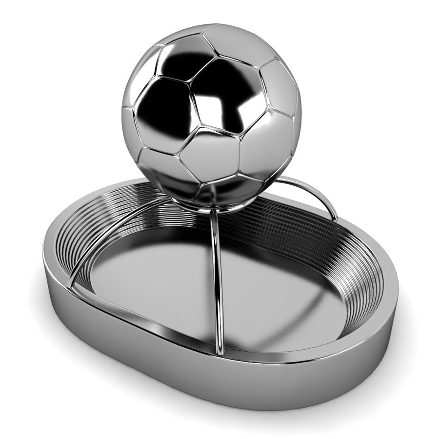 Football Stadium Trophy royalty-free 3d model - Preview no. 2
