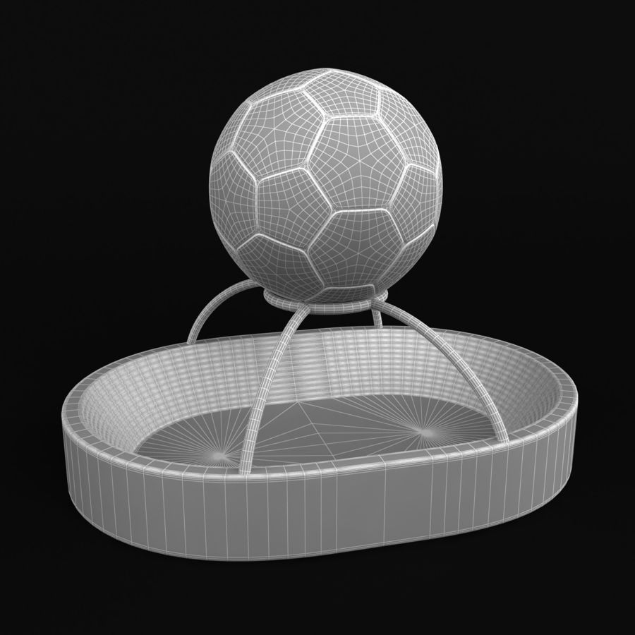 Football Stadium Trophy royalty-free 3d model - Preview no. 6