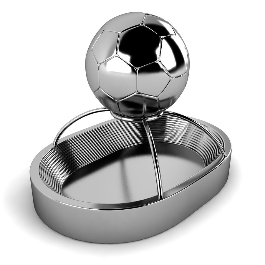 Football Stadium Trophy royalty-free 3d model - Preview no. 3