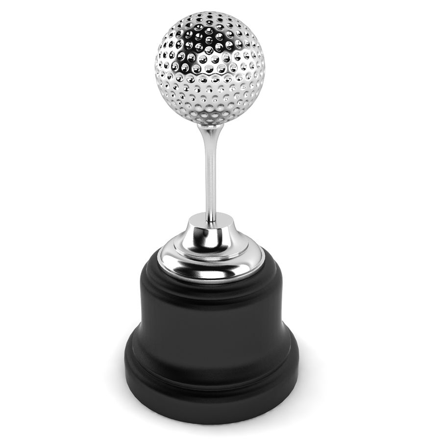 Golf Ball Trophy royalty-free 3d model - Preview no. 5