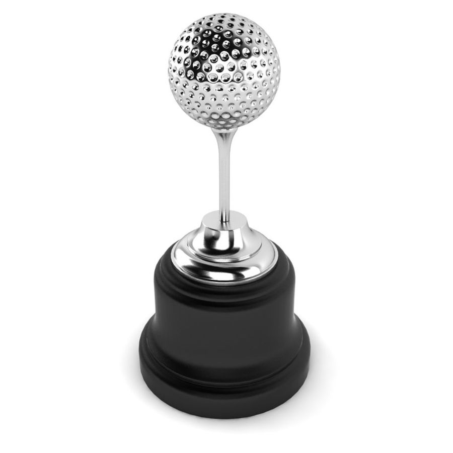 Golf Ball Trophy royalty-free 3d model - Preview no. 2