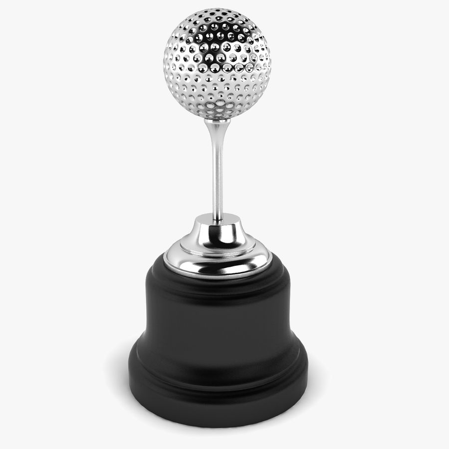 Golf Ball Trophy royalty-free 3d model - Preview no. 1