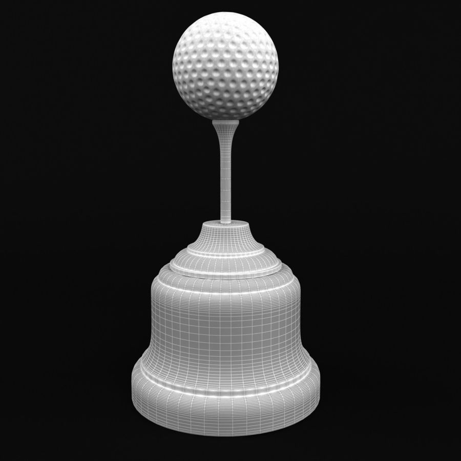 Golf Ball Trophy royalty-free 3d model - Preview no. 7