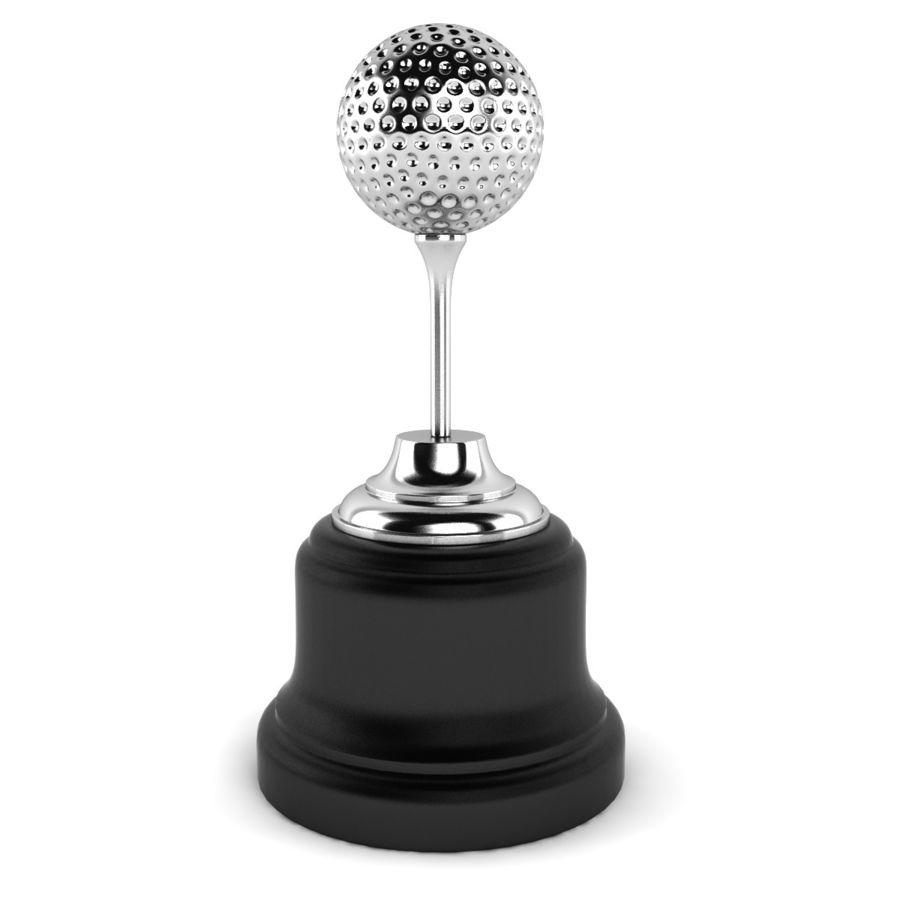 Golf Ball Trophy royalty-free 3d model - Preview no. 4