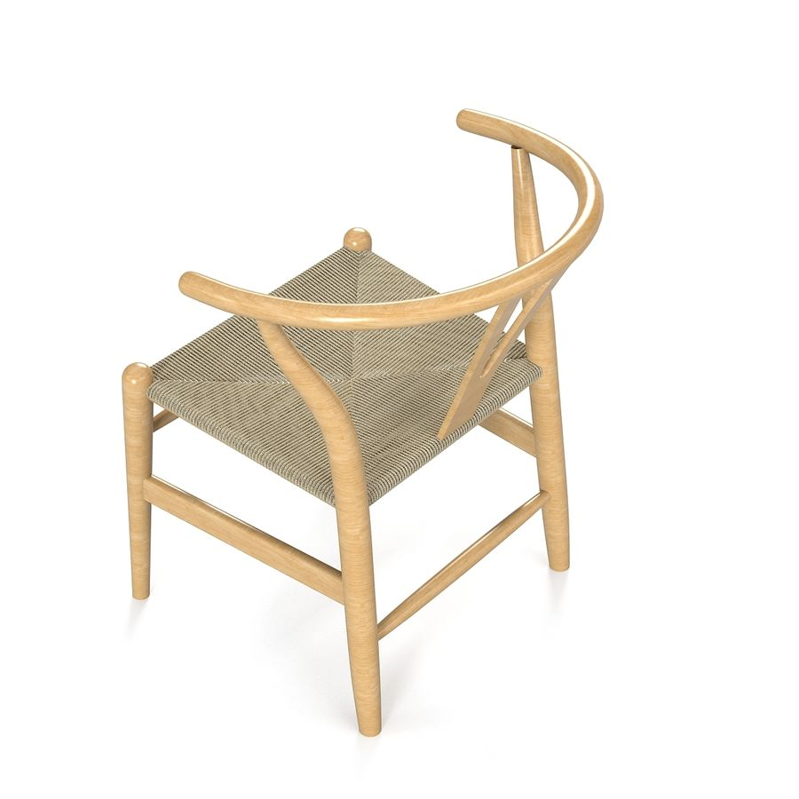 Hans Wegner Wishbone Chair royalty-free 3d model - Preview no. 3