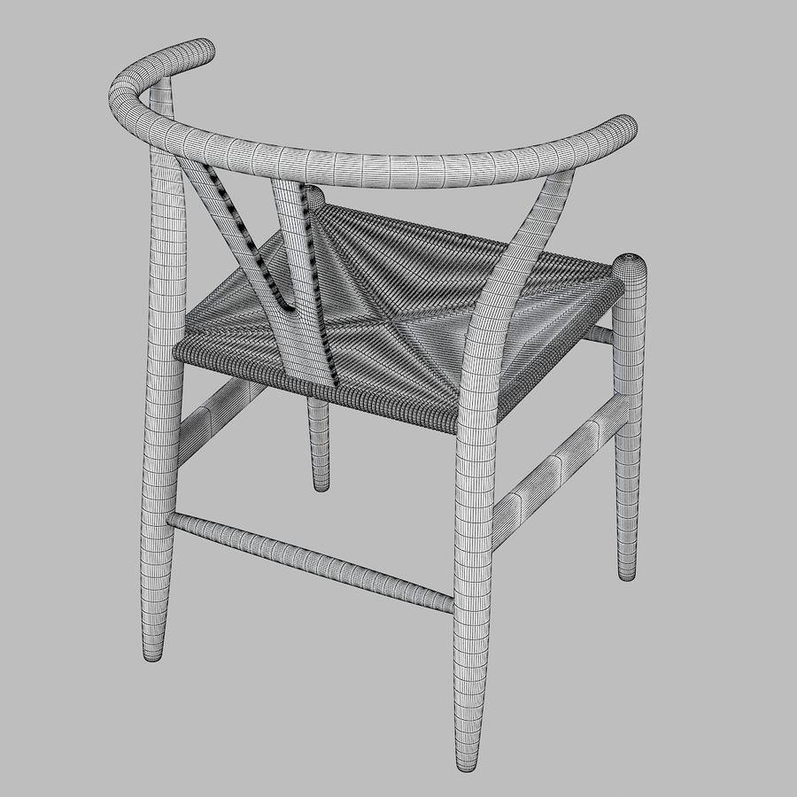 Hans Wegner Wishbone Chair royalty-free 3d model - Preview no. 5