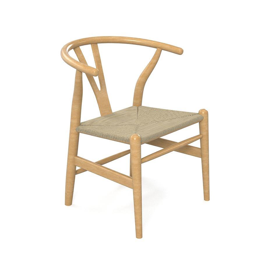 Hans Wegner Wishbone Chair royalty-free 3d model - Preview no. 2