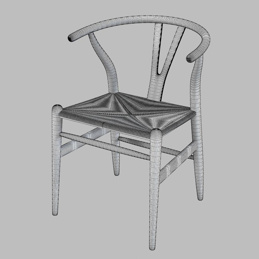 Hans Wegner Wishbone Chair royalty-free 3d model - Preview no. 4