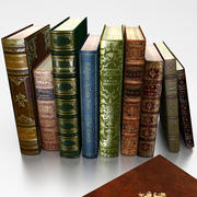 Antique Books 3d model 3d model
