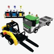 Lego Recycling Truck 3d model