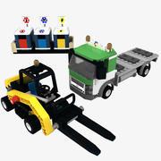 Lego Recycling Truck 3d model