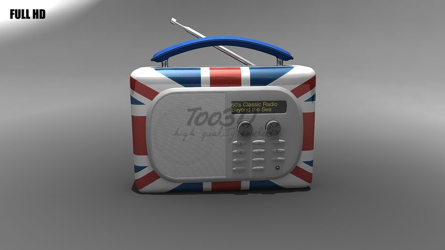 Radio royalty-free 3d model - Preview no. 4
