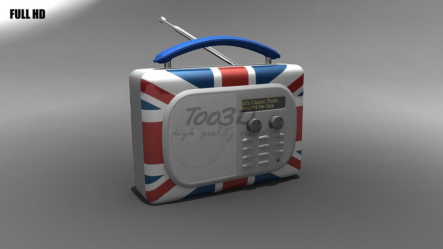 Radio royalty-free 3d model - Preview no. 6