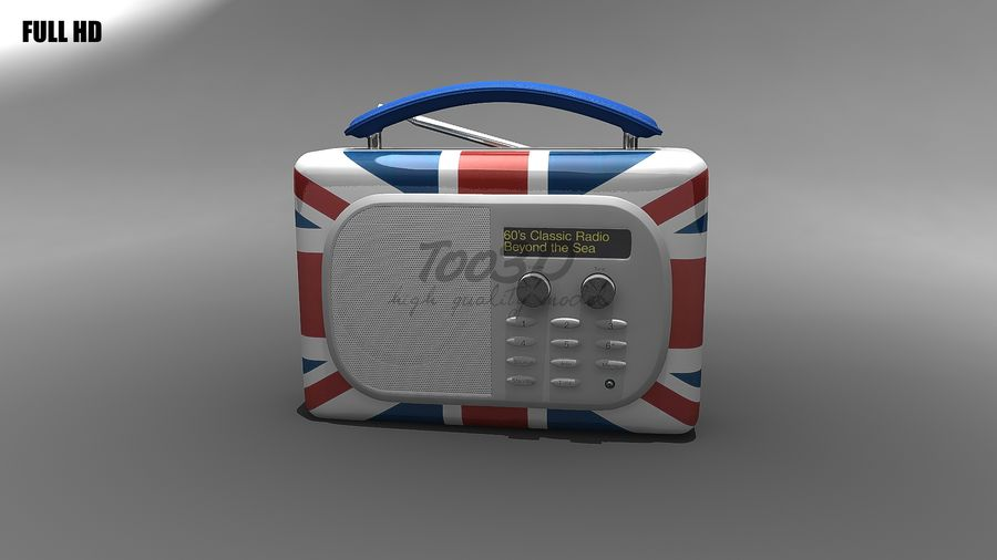 Radio royalty-free 3d model - Preview no. 3
