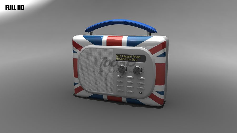 Radio royalty-free 3d model - Preview no. 2