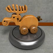 Деревянная игрушка лоси на Рождество 3d model