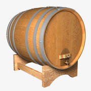 tonneau de vin 3d model