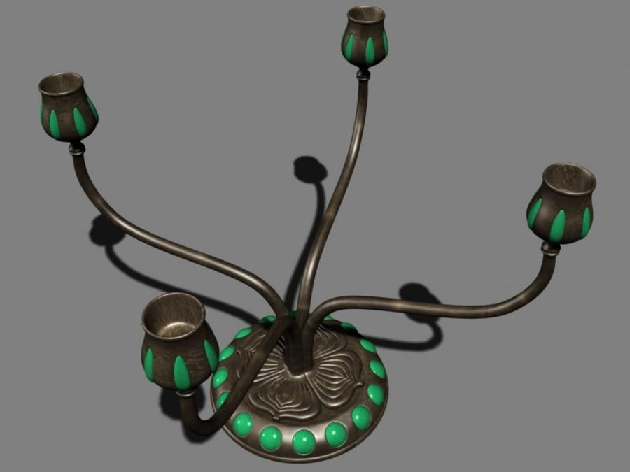 Candelabros royalty-free 3d model - Preview no. 2