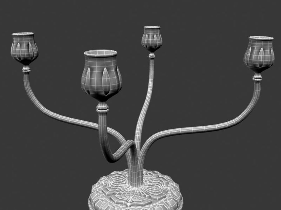 Candelabros royalty-free 3d model - Preview no. 6