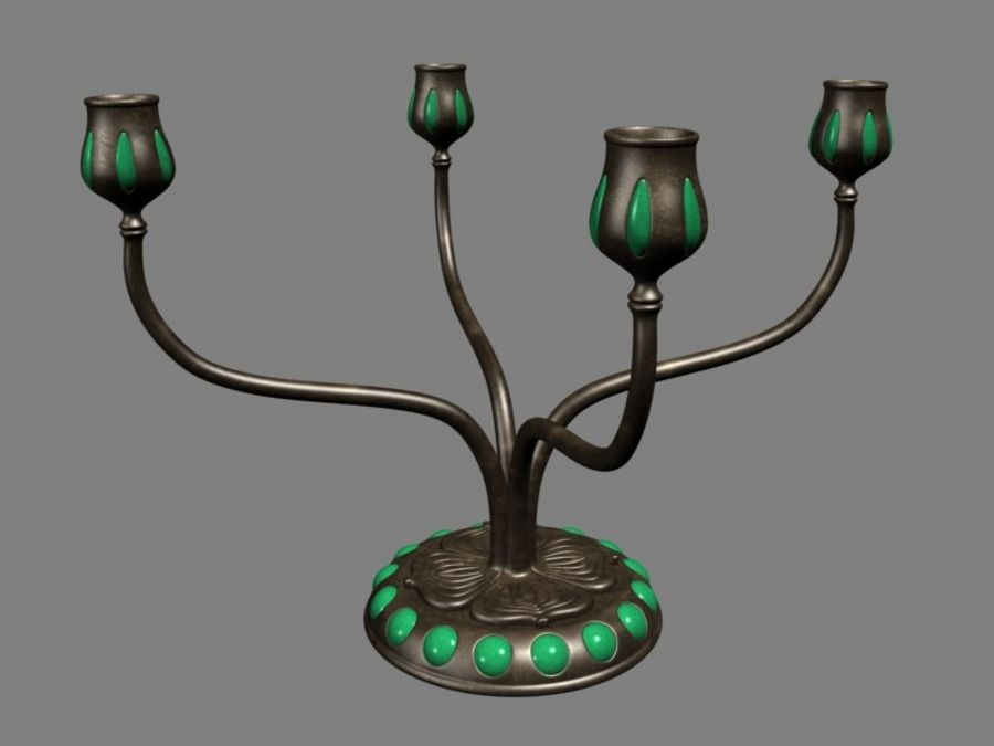 Candelabros royalty-free 3d model - Preview no. 1