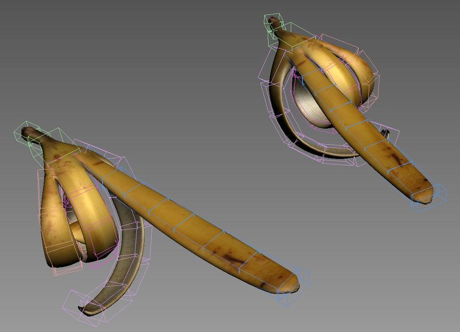 Rangged Banana Hand royalty-free 3d model - Preview no. 10